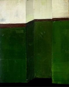Annalisa Ferraris - 'Green wall with faded blue sign' - 30 x 20cm