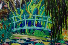 Bernard Ollis - 'Monet's Bridge, Giverny, France' - 102 x 154