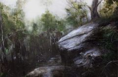 Min-Woo Bang, Bush Path, 60x90cm