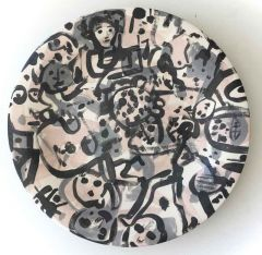 Carlos Barrios - Cats and Companies - ceramic plate