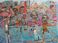 Carlos Barrios - 'Sos Los Animales with People' - 56 x 76cm