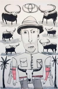 Franck Gohier - Self Portrait as a Buffalo Hunter - 121x80cm