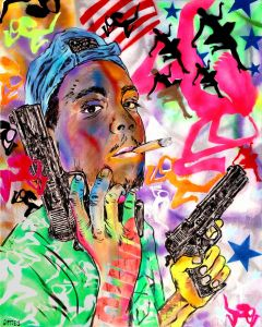 George Gittoes - Guns Kill - Jon Jon - 153x122cm