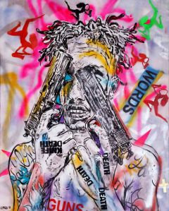 George Gittoes - Lil Dave - WORDS - 153x122cm