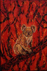 George Gittoes - 'Our Koala (Study)' - 76 x 51cm