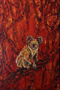 George Gittoes - Our Koala - 183 x 122cm