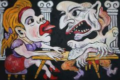 George Gittoes - 'The Table' 60 x 91cm