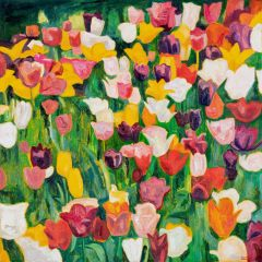 Jeff Makin - Tulips - 92x92cm
