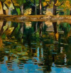 Jeff Makin - Lake Johanna - Summer - 92x92cm