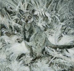 Kim Wilson - 'Swamp Wallaby III' - 14.5 x 15cm