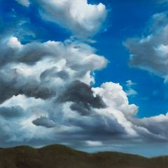 Min-Woo Bang - 'Dancing Clouds' - 102x102cm