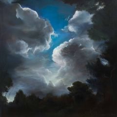 Min-Woo Bang - 'Night Clouds' - 51x51cm