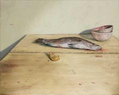 Mirra Whale - Barramundi and Bowls - 63x73cm