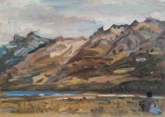 Steve Lopes - Mountain Post - 32x45cm