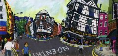 Bernard Ollis - Soho London Panorama - 66x120cm