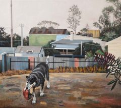 Steve Lopes - 'Dogs of the Neighbourhood' - 98 x 110cm