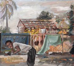 Steve Lopes - 'The Roof is Off' - 37 x 41.5cm