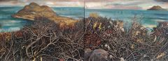 Steve Lopes - Burnt Out Brush (diptych) - 31x82cm