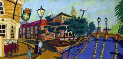 Bernard Ollis - The Thames at Barnes Panorama - 66x120cm