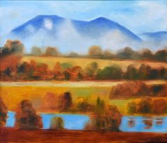 Jeff Makin - Warburton Morning - 56x66cm