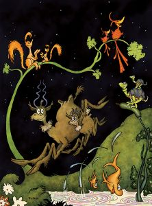 Dr Seuss - After Dark in the Park - 61x91cm
