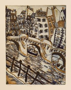 Bernard Ollis - Bridge Over the Seine - 24x32cm
