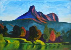 Jeff Makin - Mt Warning - 51x36cm