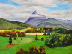 Jeff Makin - Mt Warning: Afternoon - 92x122cm
