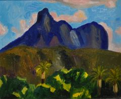 Jeff Makin - Study for Mt Warning - 24x29cm