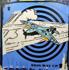 Franck Gohier -  'This Way Up' - 119x120cm