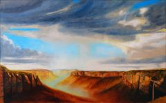 Jeff Makin - Govett's Leap - 154x244cm