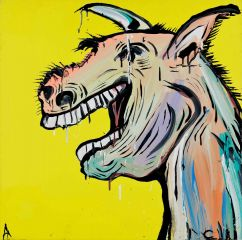 Adam Cullen - Laughing Horse - 92 x 92cm