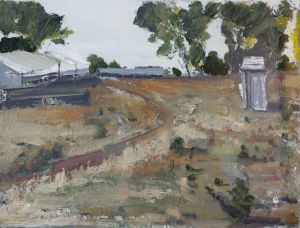 Amanda Penrose Hart - Mt Mircheson, The Road - 21x29.5cm