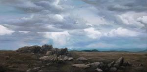 Min-Woo Bang - 'Ancient Rocks' - 51 x 100cm