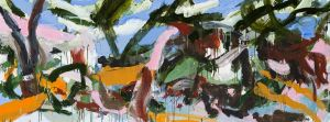 Ann Thomson - 'Overwhelmed by summer' - 76 x 203.5cm