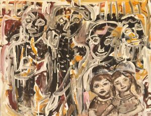 Carlos Barrios - Kids and Ancestors - 74x92cm