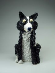 Charlotte Le Brocque - Stephen the serious sheep dog - 53 x 30 x 33cm