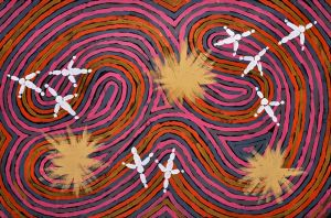 Clifford Possum – Napperby Worm Dreaming - 91x137cm