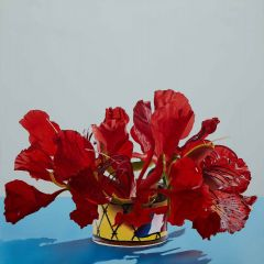 David Hayes - 'Flower drum' - 60x60cm