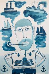 Franck Gohier - Self Portrait as a Balanda Sailor - 121x80cm