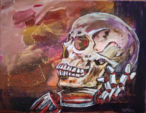 George Gittoes - 'FOSSIL FUEL' - 35.5 x 46cm