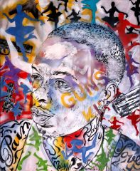 George Gittoes - Soulja love and pain - 153x122cm