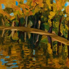Jeff Makin - Lake Johanna - Autumn - 92x92cm