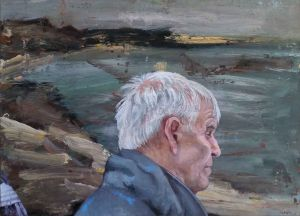 Steve Lopes - Lake Figure II, Portrait - 32x45cm