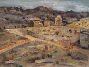 Steve Lopes - Matilda Battery Track - 32x43cm