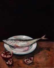 Mirra Whale - Mackerel and pomegranate - 51x41cm