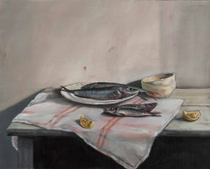 Mirra Whale - Mackerel and sardines - 61x76cm