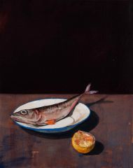 Mirra Whale - Mackerel on tin plate - 51x41cm