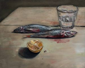 Mirra Whale - Sardines and half lemon - 20x25cm