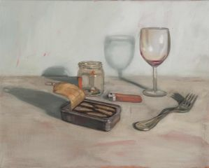 Mirra Whale - Sprats and Vino - 41x51cm